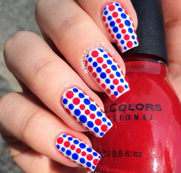 28 cute 4th of july patriotic nail art - 36 Cute 4th of July Patriotic Nail Art Ideas