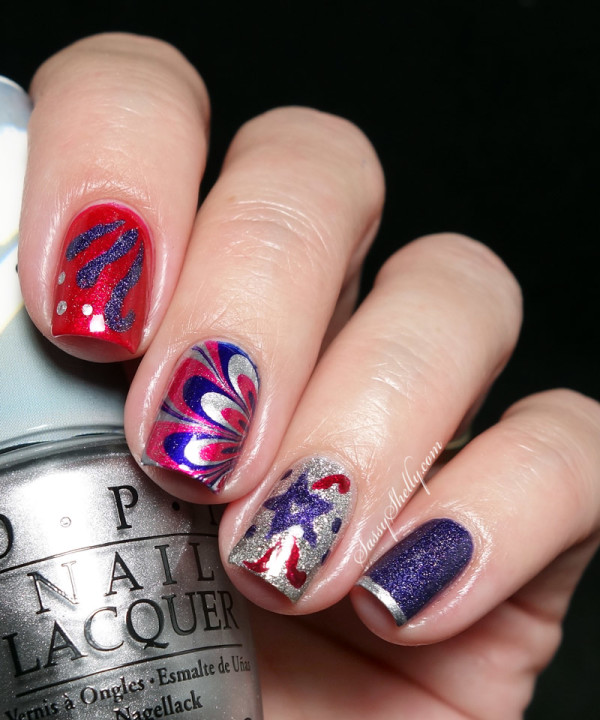 29 cute 4th of july patriotic nail art - 36 Cute 4th of July Patriotic Nail Art Ideas