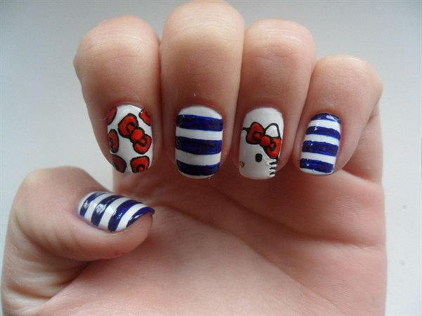 35 cute 4th of july patriotic nail art - 36 Cute 4th of July Patriotic Nail Art Ideas