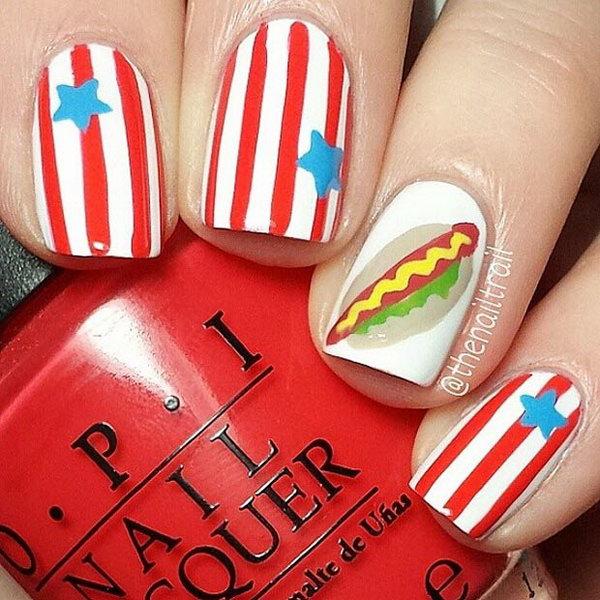 36 cute 4th of july patriotic nail art - 36 Cute 4th of July Patriotic Nail Art Ideas