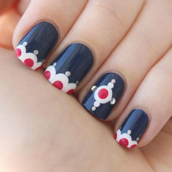 41 cute 4th of july patriotic nail art - 36 Cute 4th of July Patriotic Nail Art Ideas