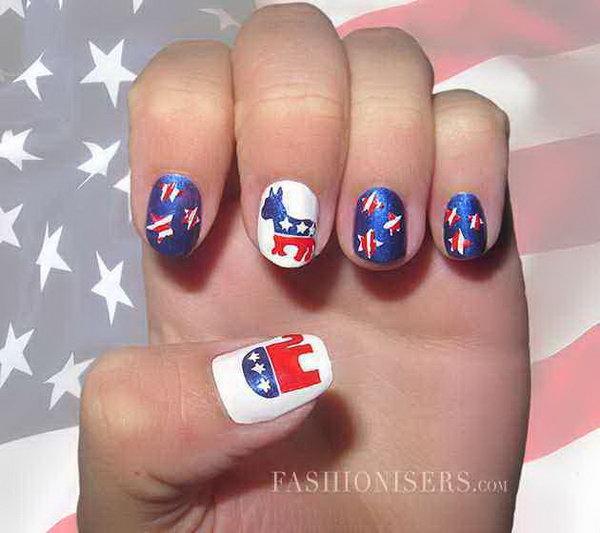 5 cute 4th of july patriotic nail art - 36 Cute 4th of July Patriotic Nail Art Ideas