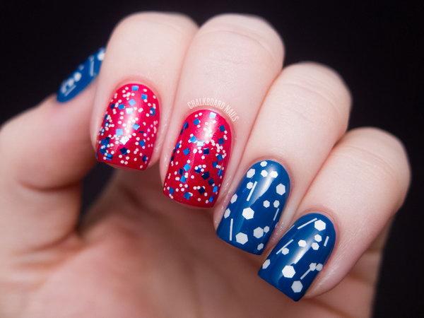 10 glitter 4th of july nails - 20+ Glitter 4th of July Nail Art Ideas & Tutorials
