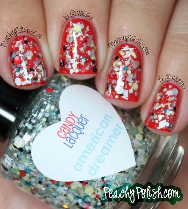 18 glitter 4th of july nails - 20+ Glitter 4th of July Nail Art Ideas & Tutorials