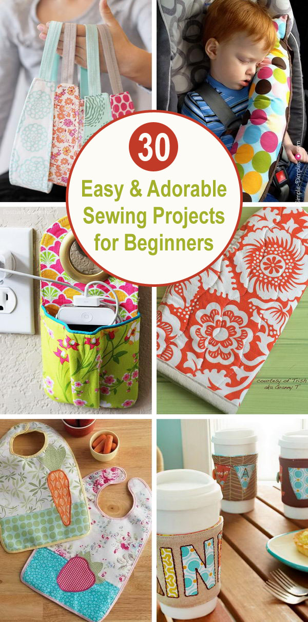 sewing projects for beginners - 30+ Easy & Adorable Sewing Projects for Beginners