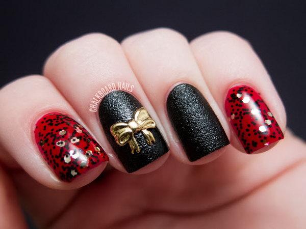 1 bow nail design ideas - 45 Wonderful Bow Nail Art Designs