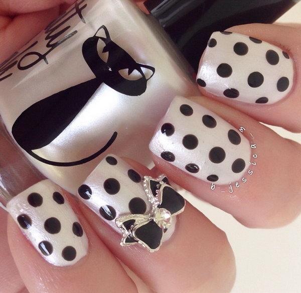 14 bow nail design ideas - 45 Wonderful Bow Nail Art Designs