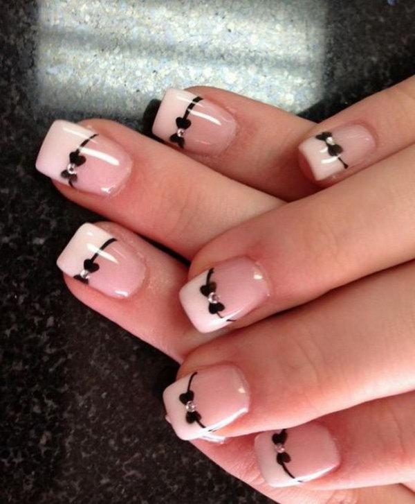 15 bow nail design ideas - 45 Wonderful Bow Nail Art Designs