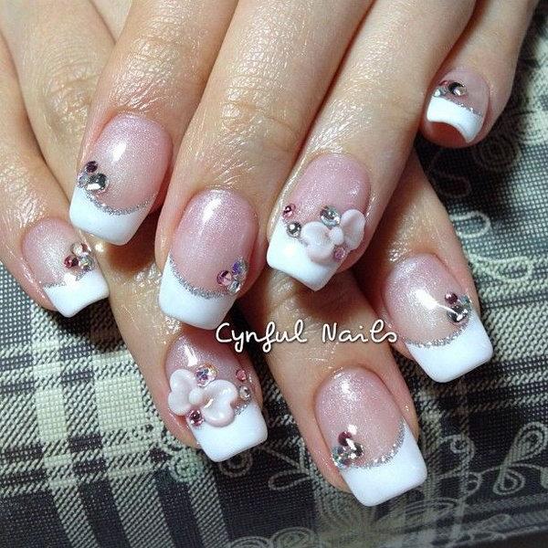 19 bow nail design ideas - 45 Wonderful Bow Nail Art Designs