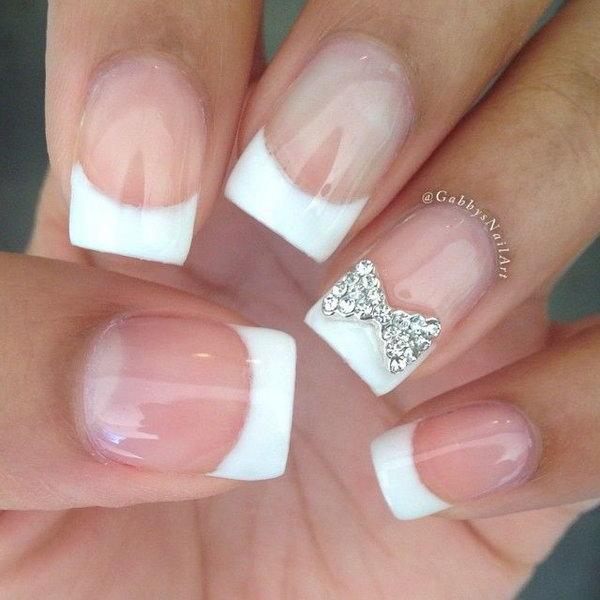 27 bow nail design ideas - 45 Wonderful Bow Nail Art Designs