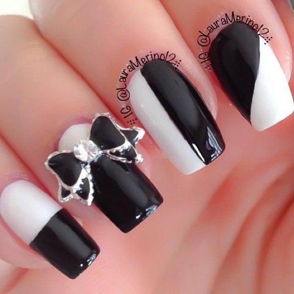 3 bow nail design ideas - 45 Wonderful Bow Nail Art Designs