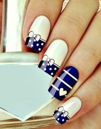 45 Wonderful Bow Nail Art Designs - Styletic