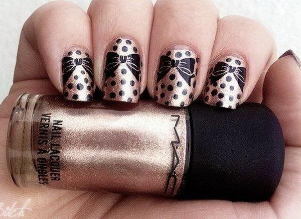 43 bow nail design ideas - 45 Wonderful Bow Nail Art Designs