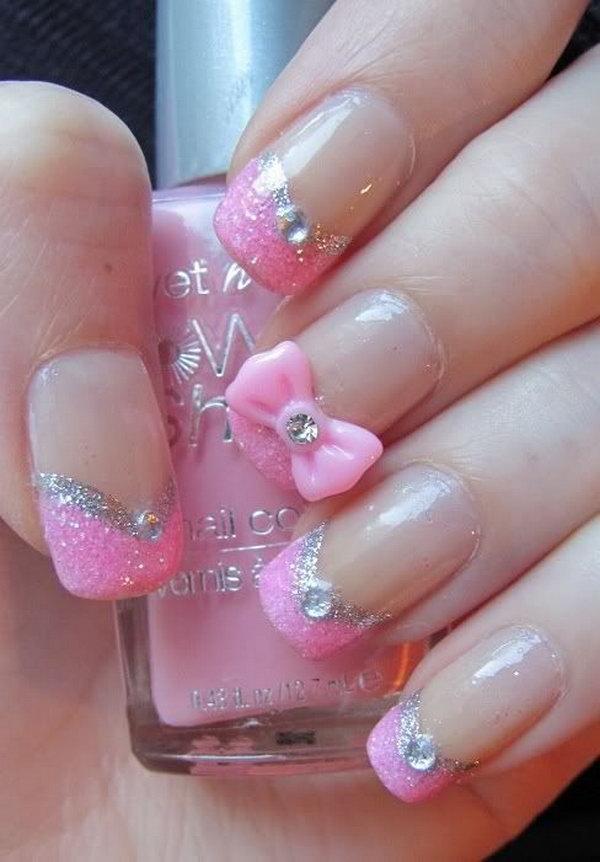 7 bow nail design ideas - 45 Wonderful Bow Nail Art Designs