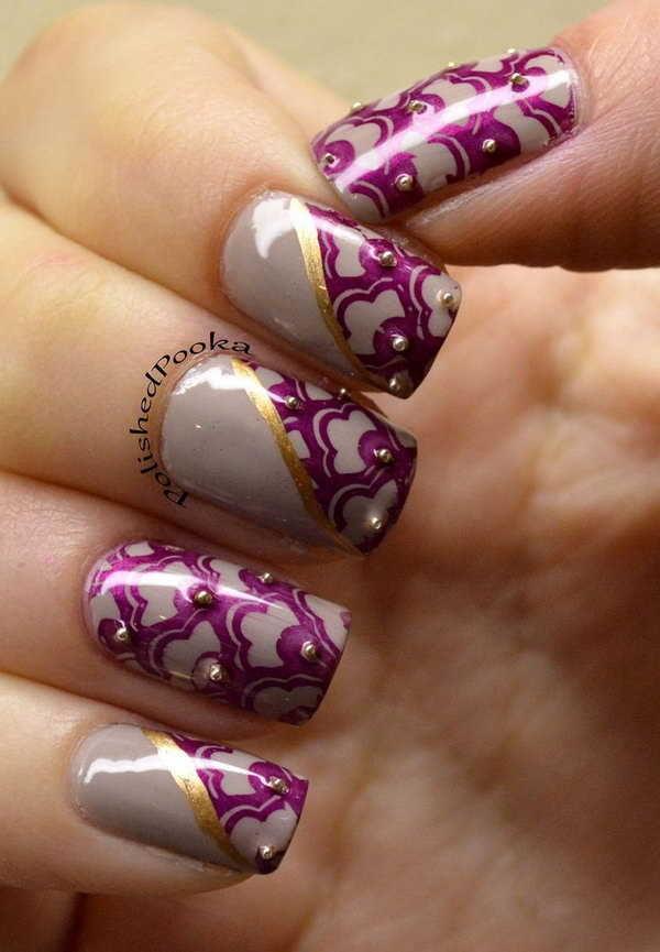 10 purple nail art designs - 30+ Trendy Purple Nail Art Designs You Have to See