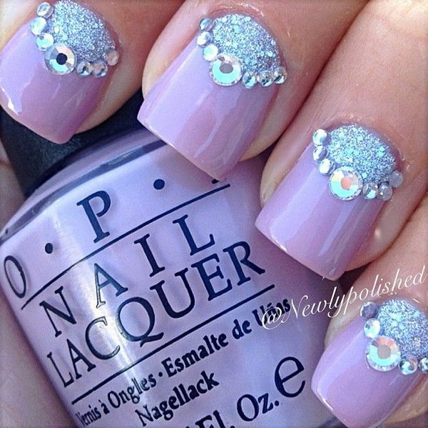 2 purple nail art designs - 30+ Trendy Purple Nail Art Designs You Have to See