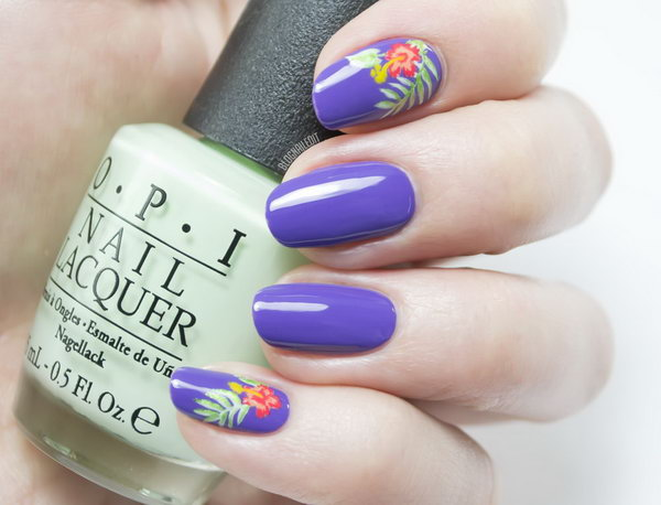 25 purple nail art designs - 30+ Trendy Purple Nail Art Designs You Have to See