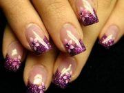 trendy purple nail art design