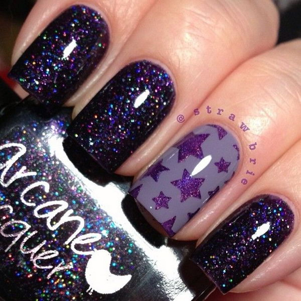 40 purple nail art designs - 30+ Trendy Purple Nail Art Designs You Have to See
