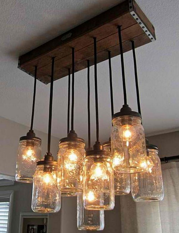 Diy Mason Jar Chandelier Jars Make The Perfect Decor Pieces This