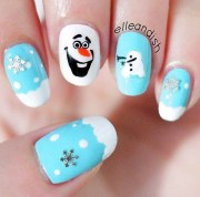 festive christmas nail art design