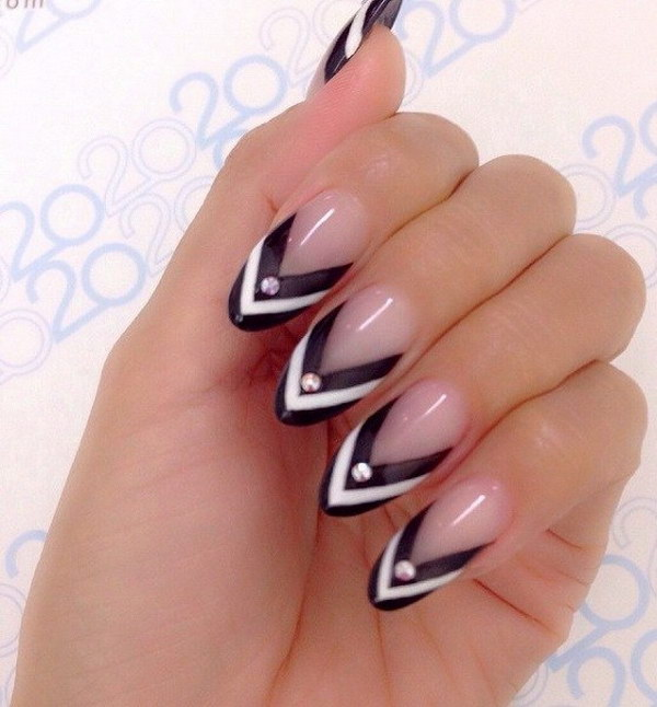 23 black and white nail designs - 80+ Black And White Nail Designs