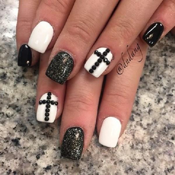 36 black and white nail designs - 80+ Black And White Nail Designs