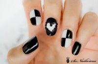 80+ Black And White Nail Designs
