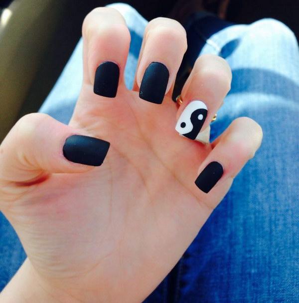 55 black and white nail designs - 80+ Black And White Nail Designs