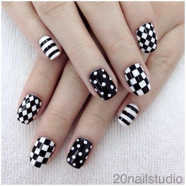 60 black and white nail designs - 80+ Black And White Nail Designs