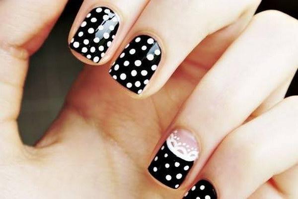 79 black and white nail designs - 80+ Black And White Nail Designs