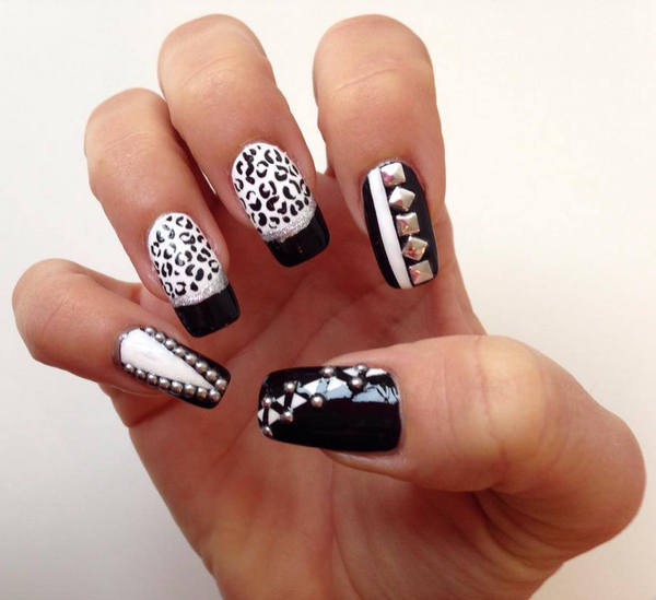 82 black and white nail designs - 80+ Black And White Nail Designs