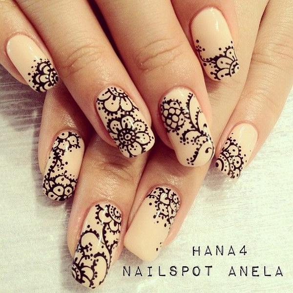 87 black and white nail designs - 80+ Black And White Nail Designs