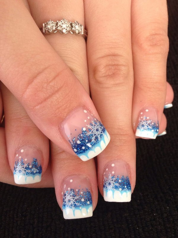 Winter French Tips Nails Designs 20 Most Exclusive Tip Nail