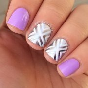 cute nail design short