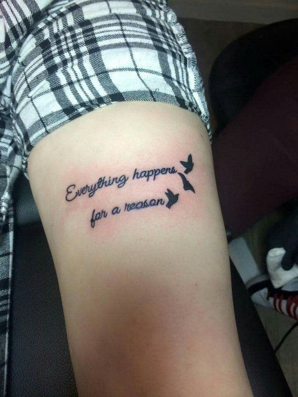 Nas Quotes Wallpaper 30 Everything Happens For A Reason Tattoo Designs