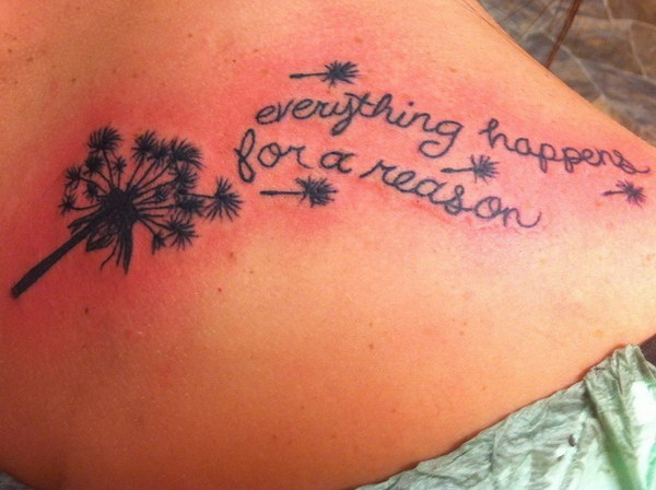 20 Everything Happens For A Reason Tattoos On Shoulder Ideas And