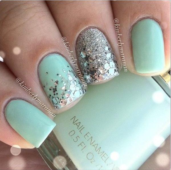 15 green nail art designs - 100+ Awesome Green Nail Art Designs