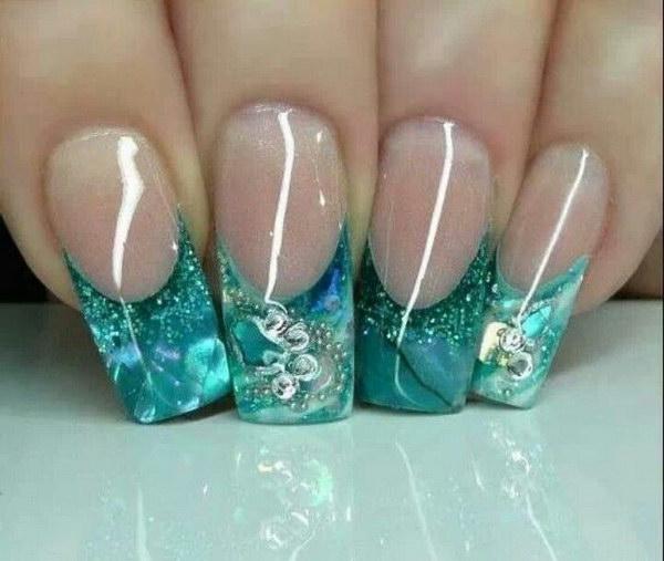 17 green nail art designs - 100+ Awesome Green Nail Art Designs