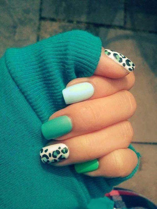 19 green nail art designs - 100+ Awesome Green Nail Art Designs