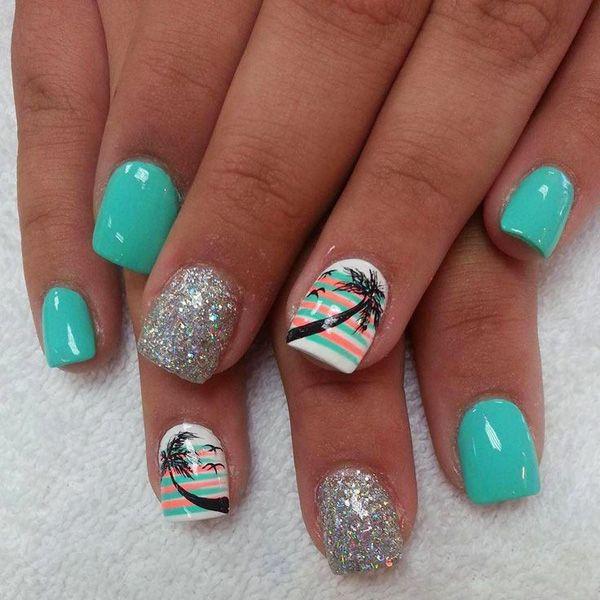 20 green nail art designs - 100+ Awesome Green Nail Art Designs