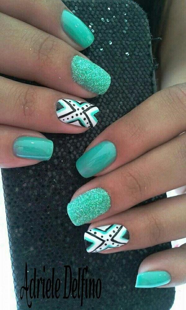 22 green nail art designs - 100+ Awesome Green Nail Art Designs