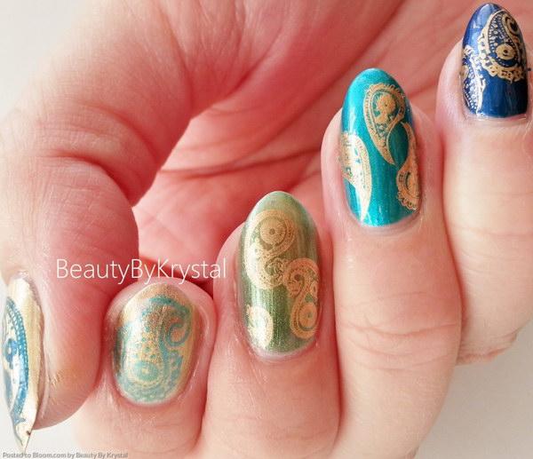 3 green nail art designs - 100+ Awesome Green Nail Art Designs