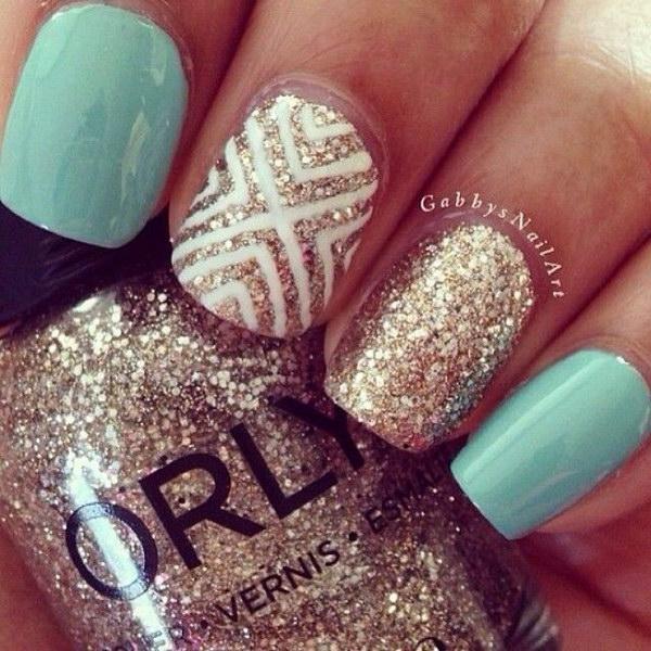 32 green nail art designs - 100+ Awesome Green Nail Art Designs