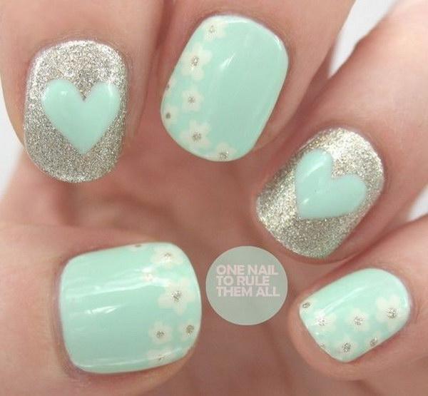 35 green nail art designs - 100+ Awesome Green Nail Art Designs