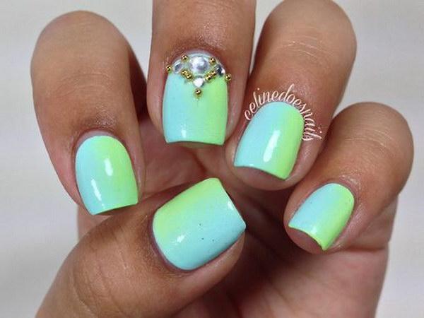 42 green nail art designs - 100+ Awesome Green Nail Art Designs
