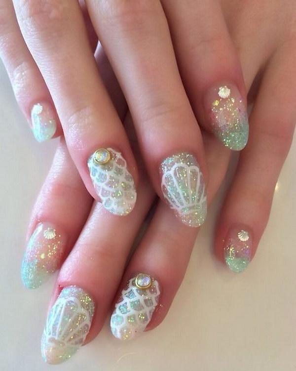 44 green nail art designs - 100+ Awesome Green Nail Art Designs