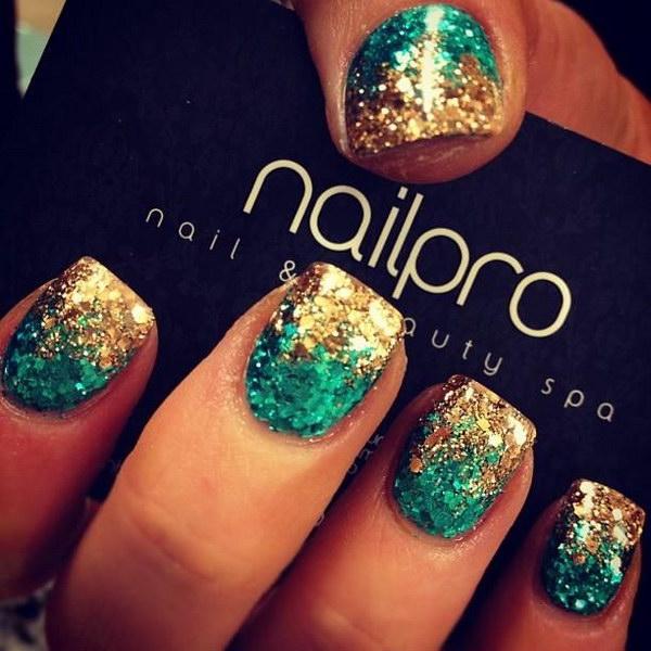 45 green nail art designs - 100+ Awesome Green Nail Art Designs