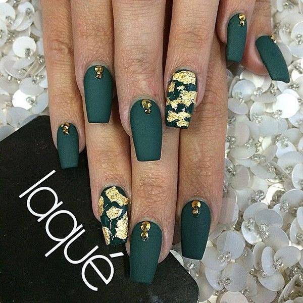 53 green nail art designs - 100+ Awesome Green Nail Art Designs