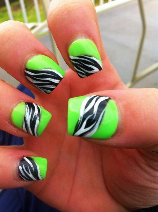 56 green nail art designs - 100+ Awesome Green Nail Art Designs